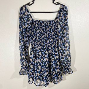 Abercrombie & Fitch XS Floral Romper Boho
